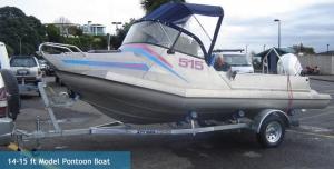14 to 15ft model pontoon boat