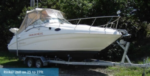 Rinker 260 on 25 to 27ft