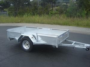 Single Axle Contractor Box Trailers
