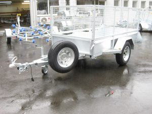 8x4 Single Axle Box trailer