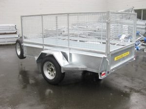 Single Axle Contractor Box Trailers